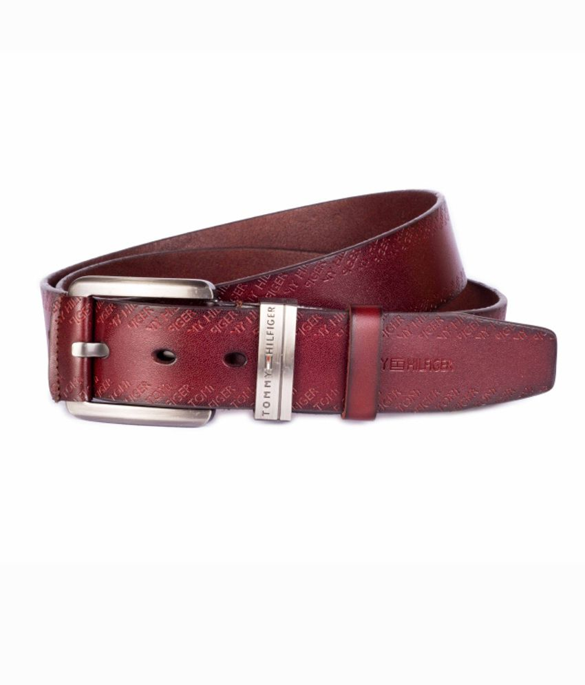 Tommy Hilfiger Brown Men's Leatherite Stylish Belt
