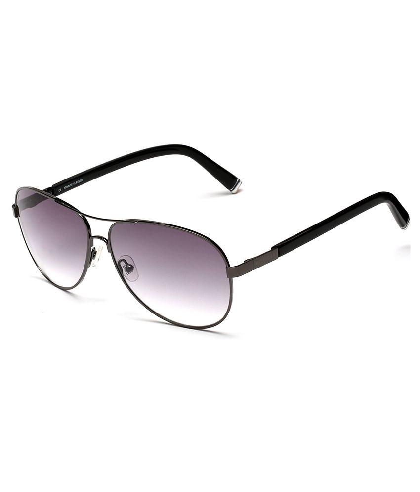 Tommy Hilfiger Th-7956-gun-blk-c2 Medium Women and men Aviator Sunglasses