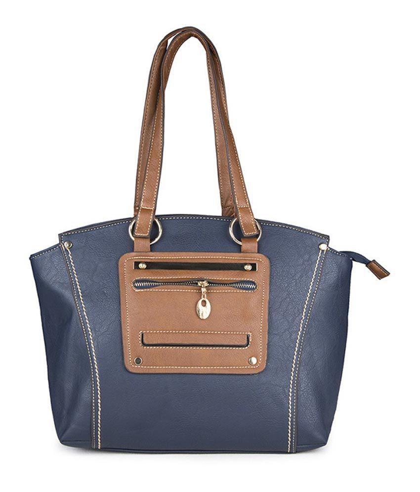 Carry On Handbag Blue Non Leather Shoulder Bag