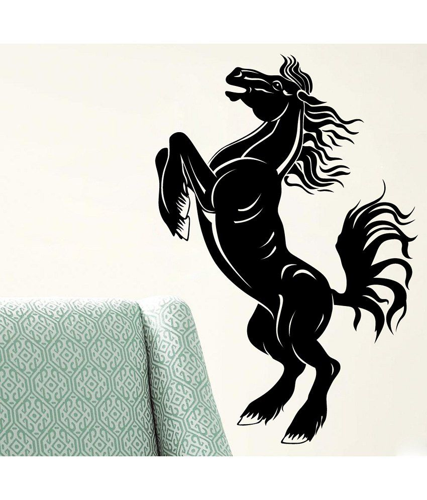 Wall Decor Stickers Snapdeal : Decor kafe horse wall decal buy