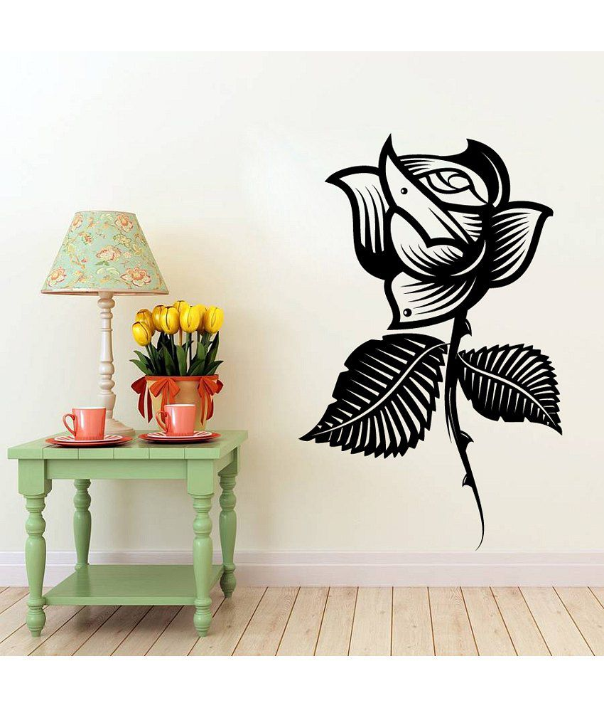 Decor kafe style rose flower decal buy decor kafe style for Snapdeal products home kitchen decorations