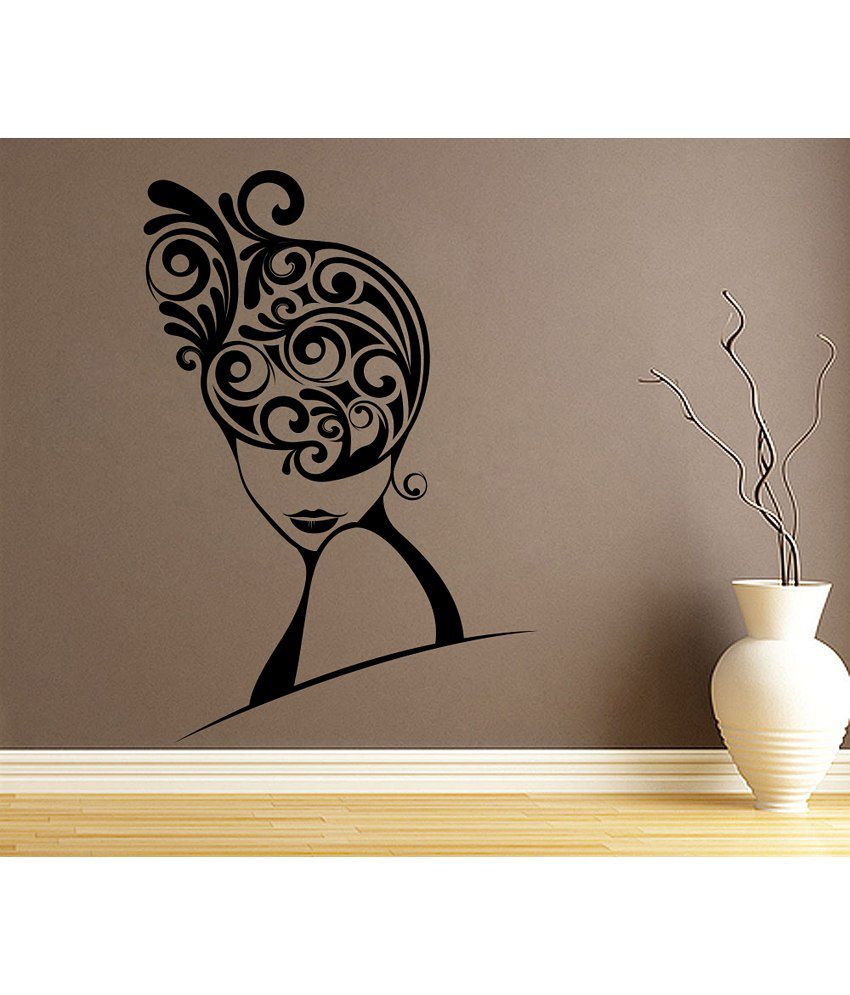 Snapdeal Wall Decor Items : Decor kafe swirls in hair wall decal buy