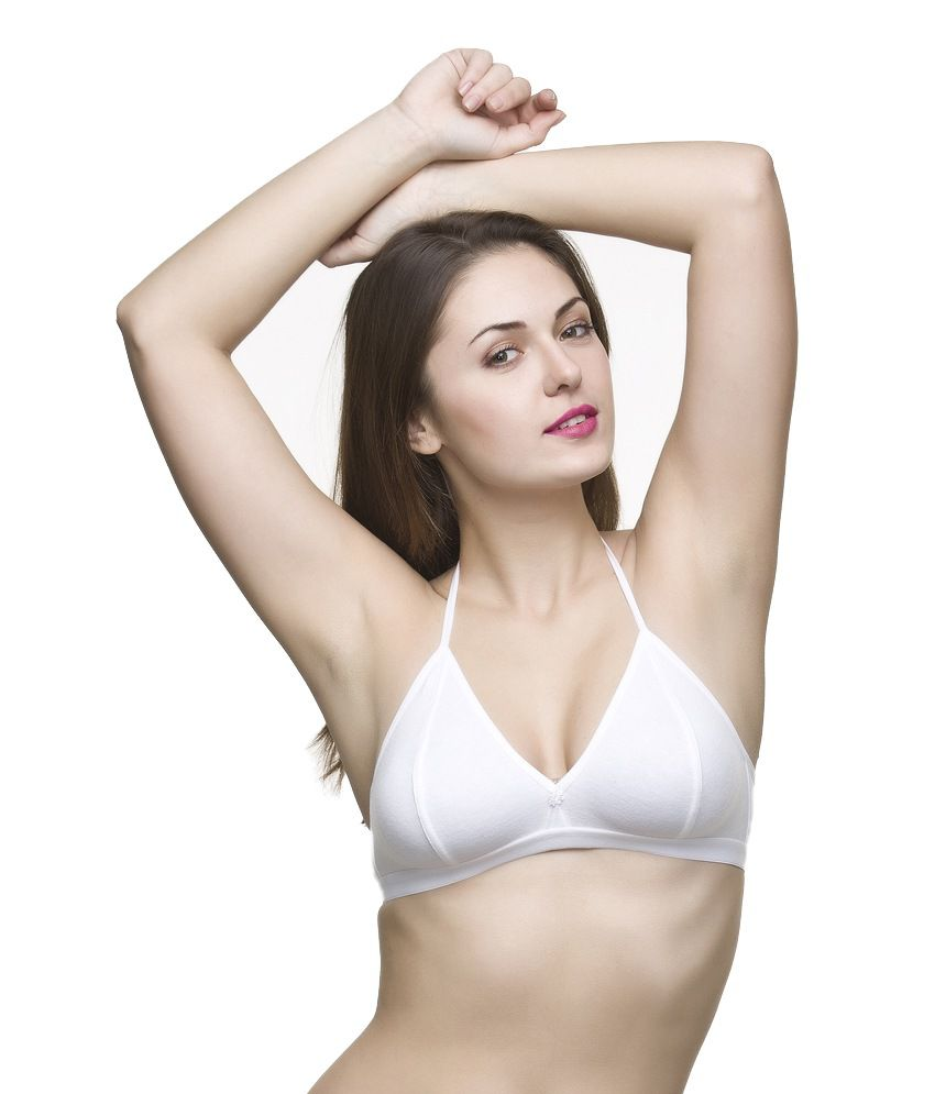 d106653155 Buy Docare White Non-padded Halter Neck Bra Online at Best Prices in India  - Snapdeal