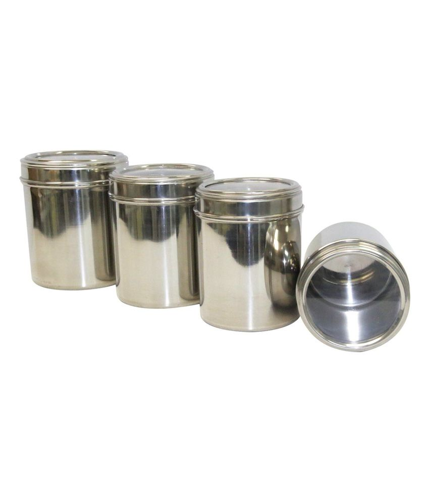 dynore stainless steel kitchen storage canisters dabba with see dynore stainless steel kitchen storage canisters dabba with see through lid set of 4