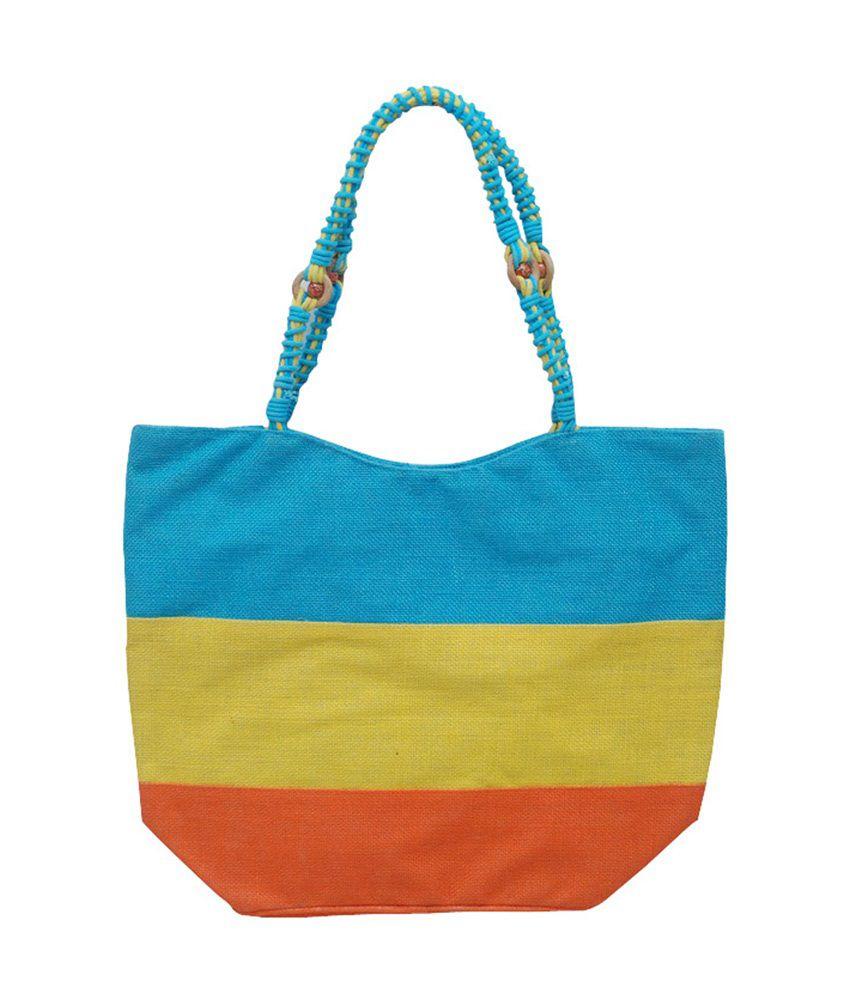 Jute Root Multi Color Jute Shoulder Bags