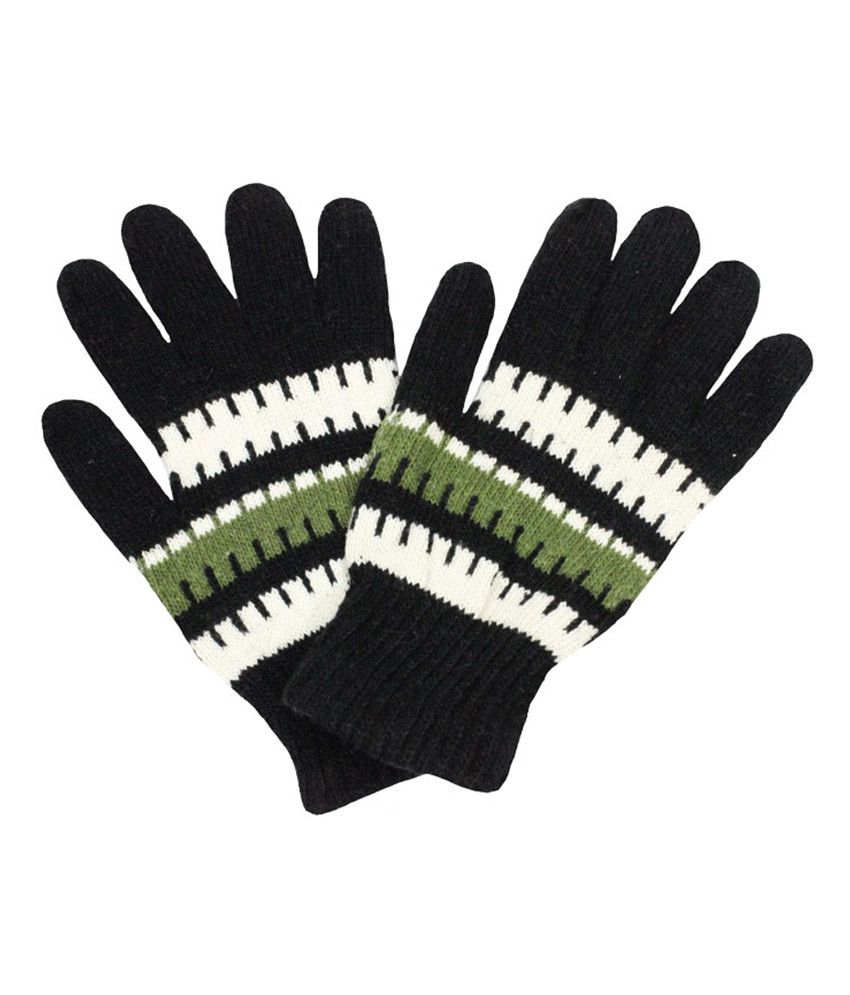 Takeincart Woolen Gloves (black)
