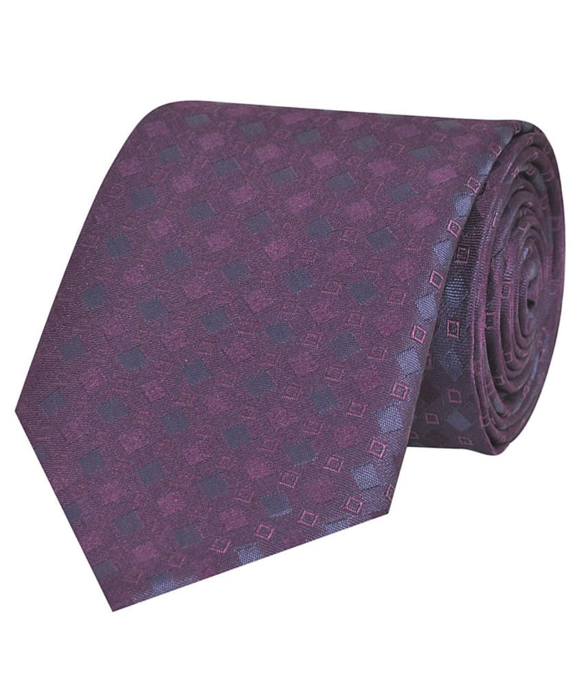 Tiekart Purple Silk Men's Broad Necktie