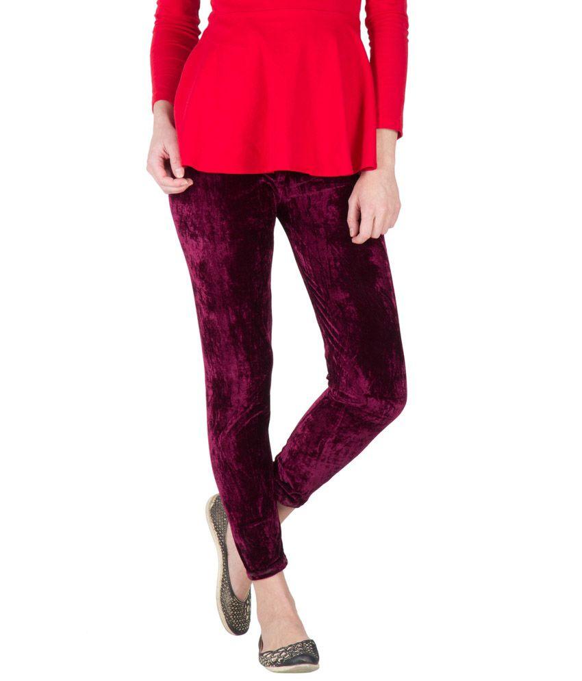 Camey Red velvet Legging
