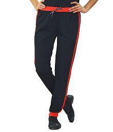 Dfh Black Cotton Trackpants