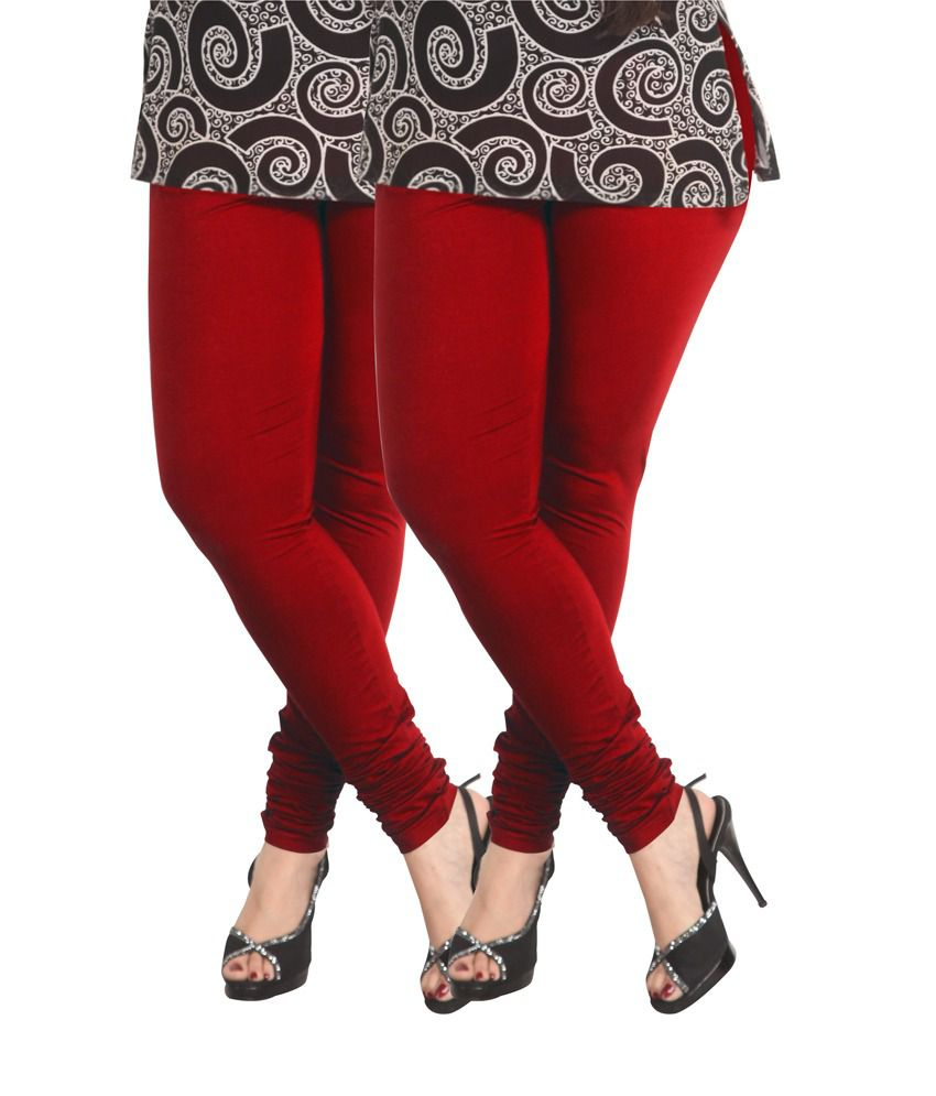 5c841a7744f07 Lux Lyra Parry Red Cotton Churidar Leggings - Pack Of 2 Price in India - Buy  Lux Lyra Parry Red Cotton Churidar Leggings - Pack Of 2 Online at Snapdeal