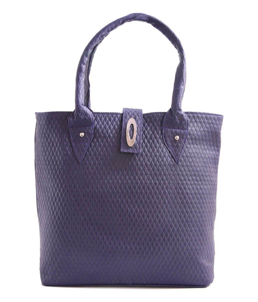 Bebo-trendz Navy P.u. Tote Bag For Women