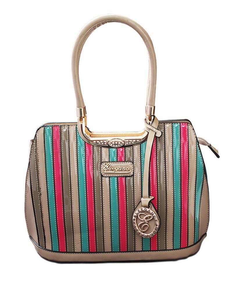 Eleegence Beige Hand Bag