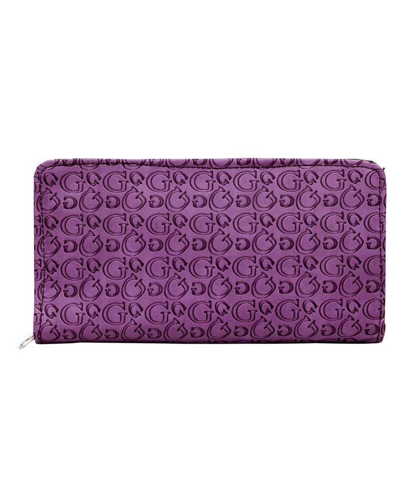 Hawai Cool Purple Fashionable Long Wallet For Women