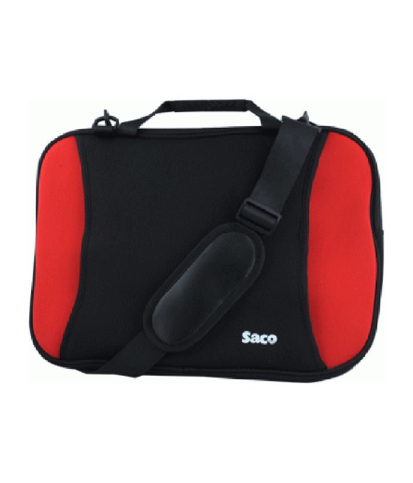 Saco Shock Proof Slim Laptop Bag For Lenovo Ideapad Z510 (59-387057) Laptop - 15.6 Inch