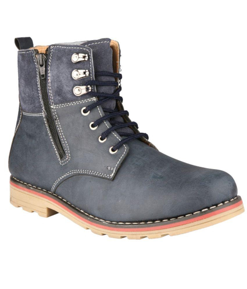 Wave Walk Blue Boots