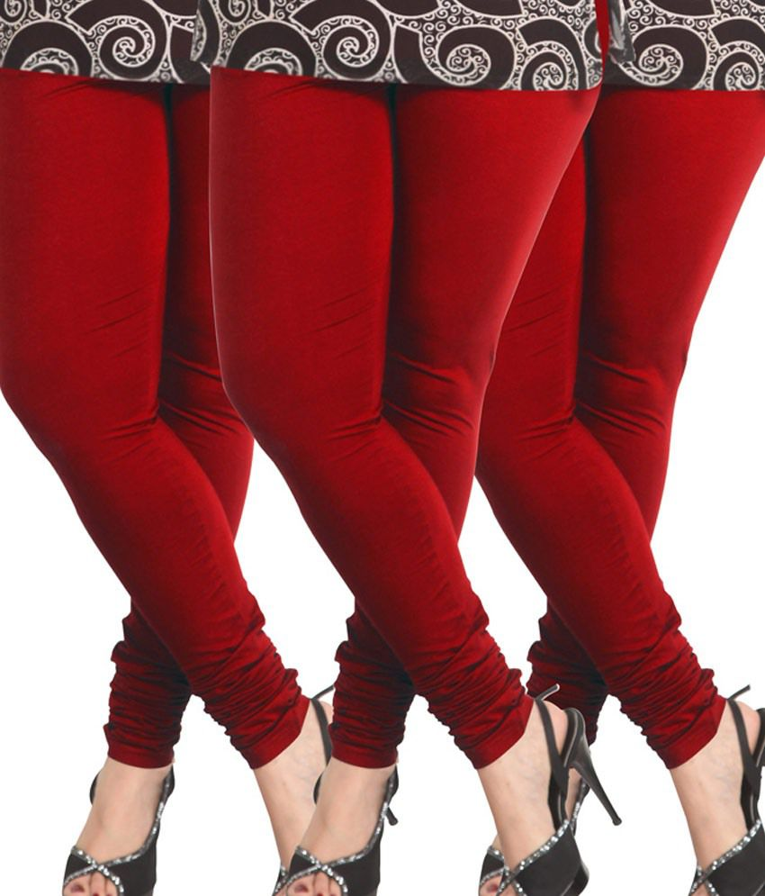 45cedb4ddee57 Lux Lyra Parry Red Cotton Churidar Leggings - Pack Of 3 Price in India - Buy  Lux Lyra Parry Red Cotton Churidar Leggings - Pack Of 3 Online at Snapdeal