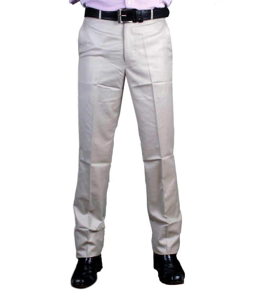 Brazen Gray Poly Viscose Regular Trouser