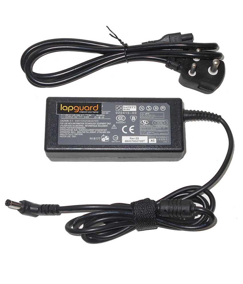 Lapguard Laptop Adapter For Asus X80le-4p099h X80le-4p137e, 19v 3.42a 65w Connector