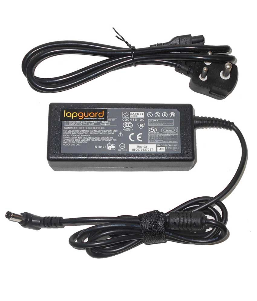 Lapguard Laptop Adapter For Toshiba Satellite Pro C855-1ef C855-1gn, 19v 3.42a 65w Connector