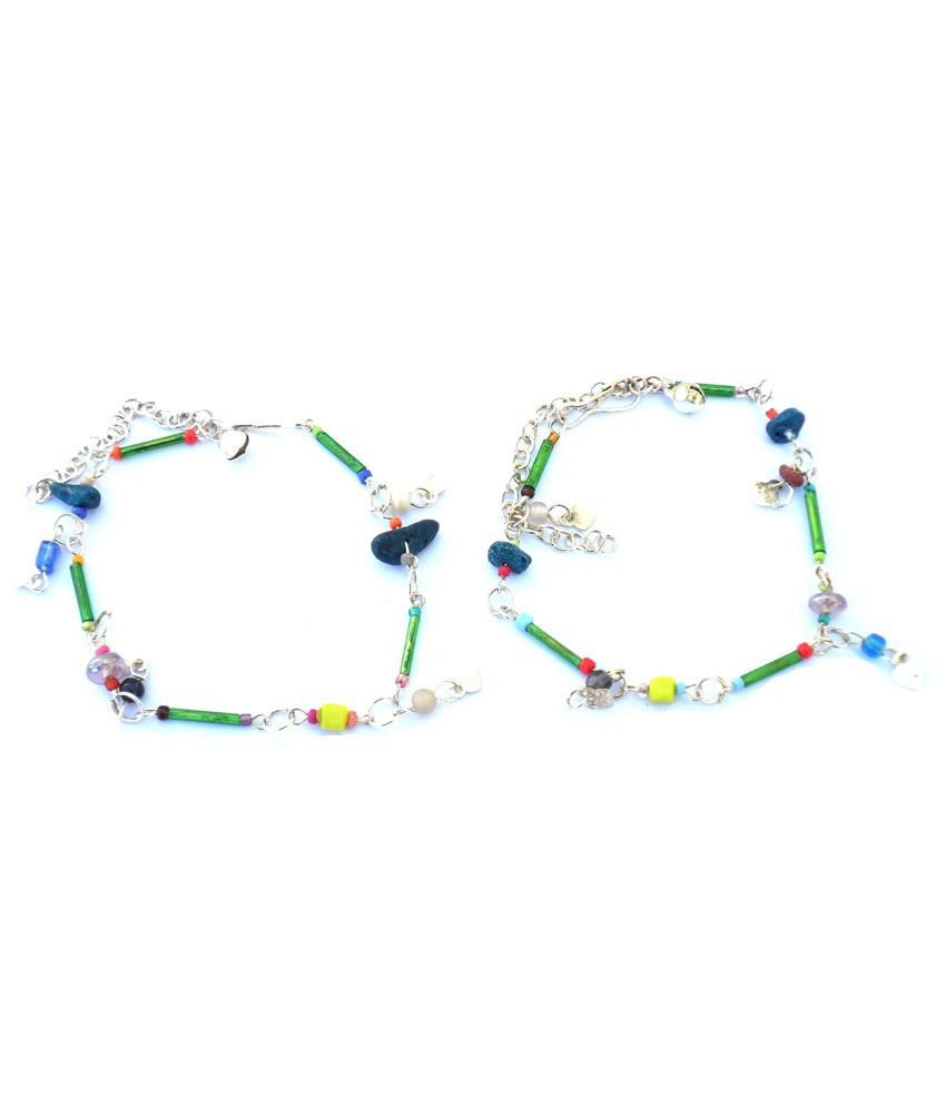 Beadworks Stunning Multicolor Beaded Anklets