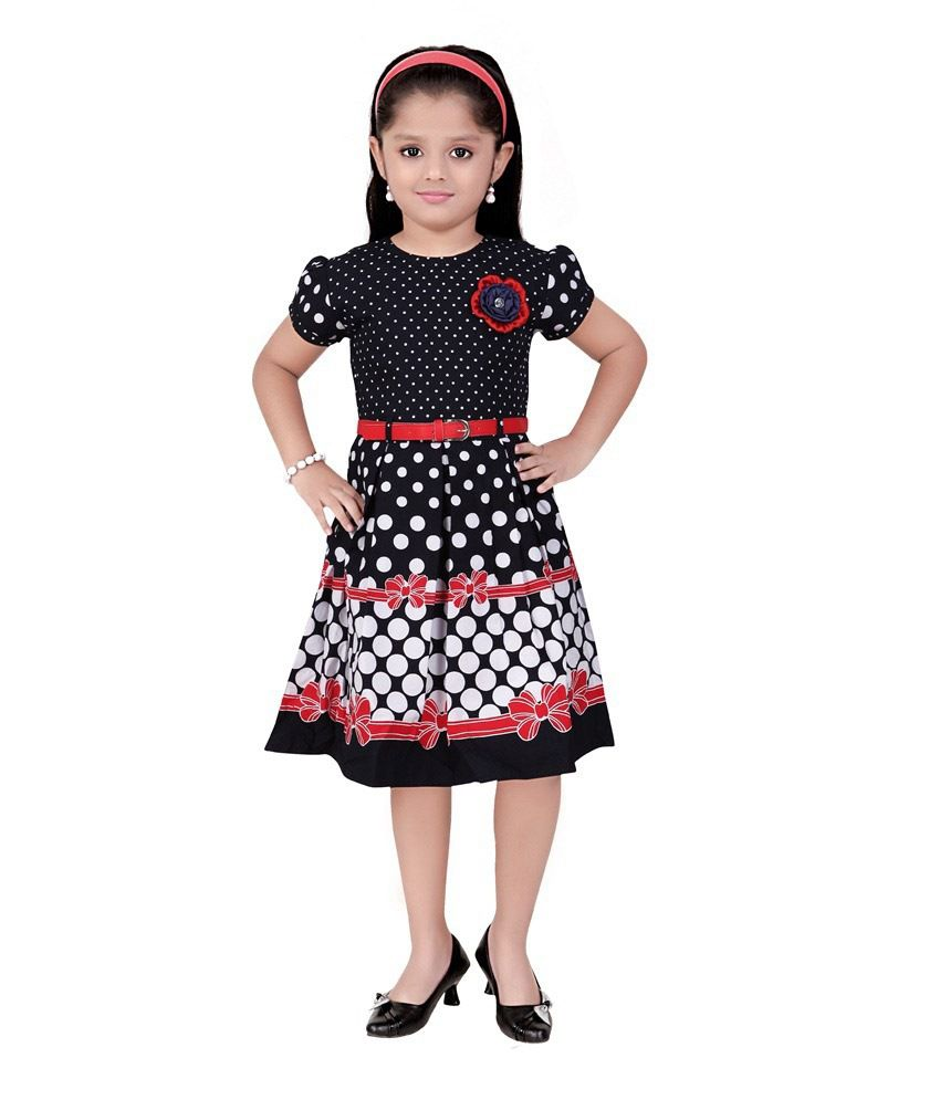 2b21d975911a Mint Black Cotton Knee Length Frocks - Buy Mint Black Cotton Knee Length  Frocks Online at Low Price - Snapdeal