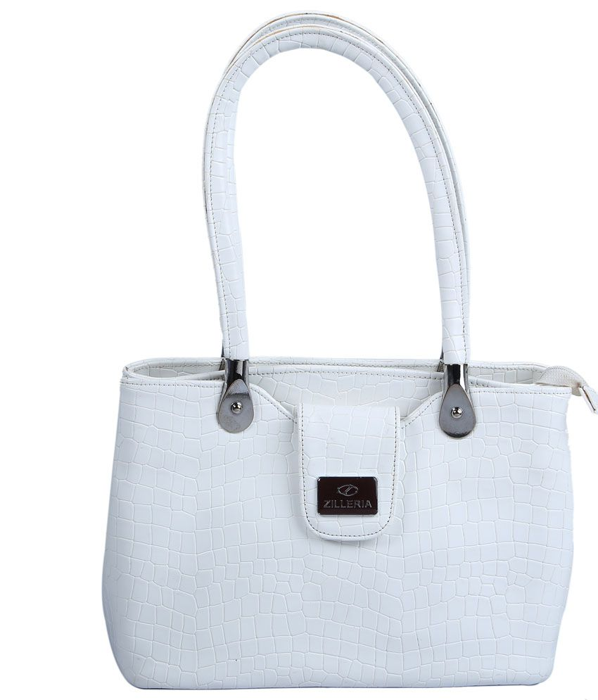 Zilleria White Non Leather Shoulder Bag