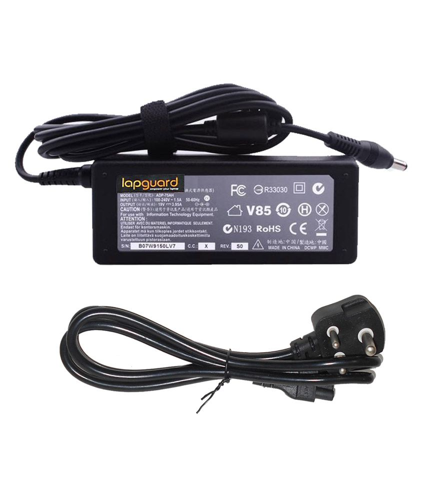 Lapguard Laptop Charger For Toshiba Satellite Pro L770-11f L770-121 19v 3.95a 75w Connector