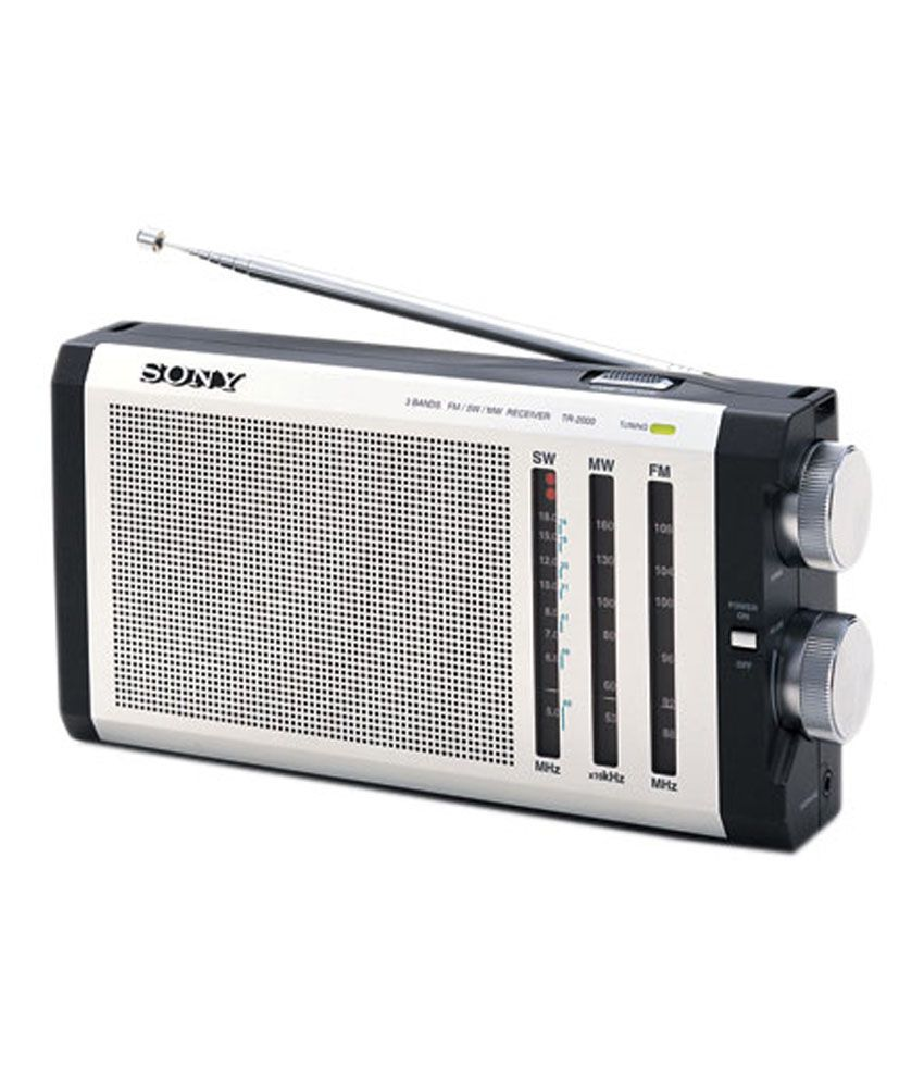 Buy sony fm mw sw 3 band portable radio icf j1 silver for Icf pricing