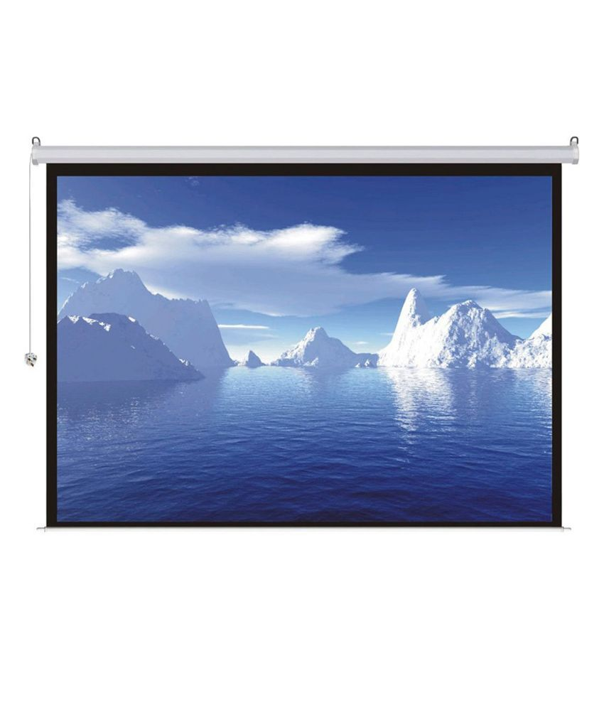 ROYAL VIEW    Motorised Projector Screen With Remote (244 cm X 182 cm)