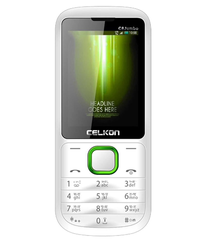 Celkon c8 jumbo multi sim mobile phone white and green - Jumbo mobel discount ...