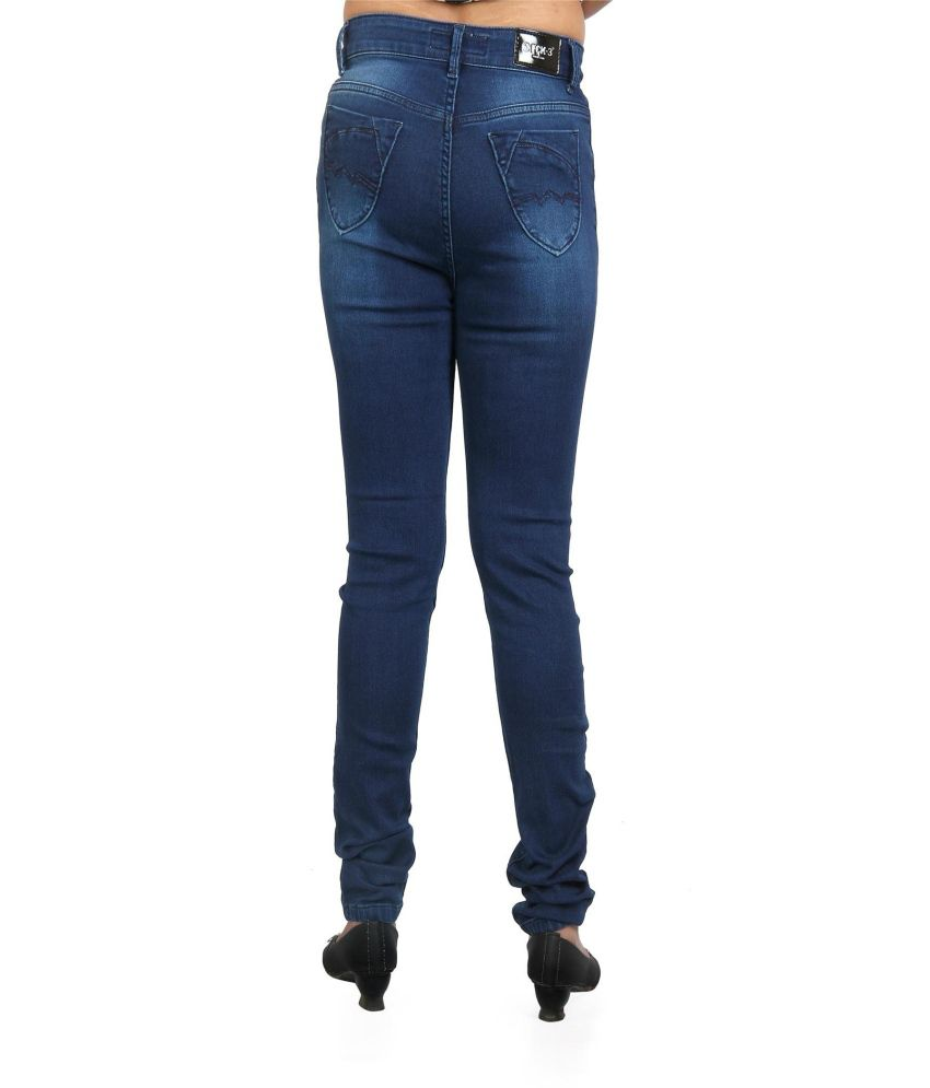 Buy Fck-3 Women Blue High Waist Designer Jeans Online at Best ...