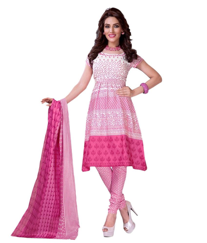 cc02eb621d Kuki Fashion Exclusive Designer fancy Printed Cotton Dress material Price  in India