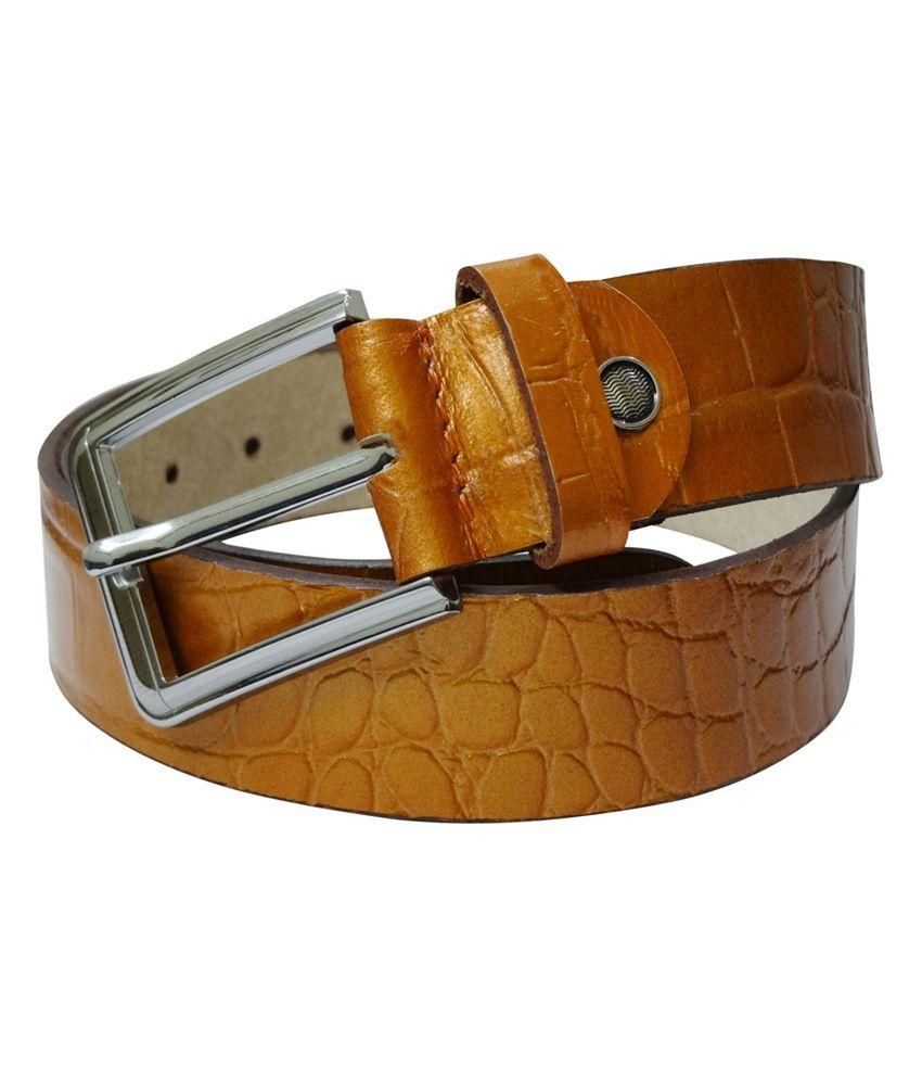 Midas Casual Leather Belt - Tan