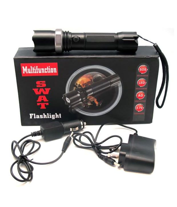 Rechargeable Flashlight Led Torch Waterproof Flashlight With 3-modes