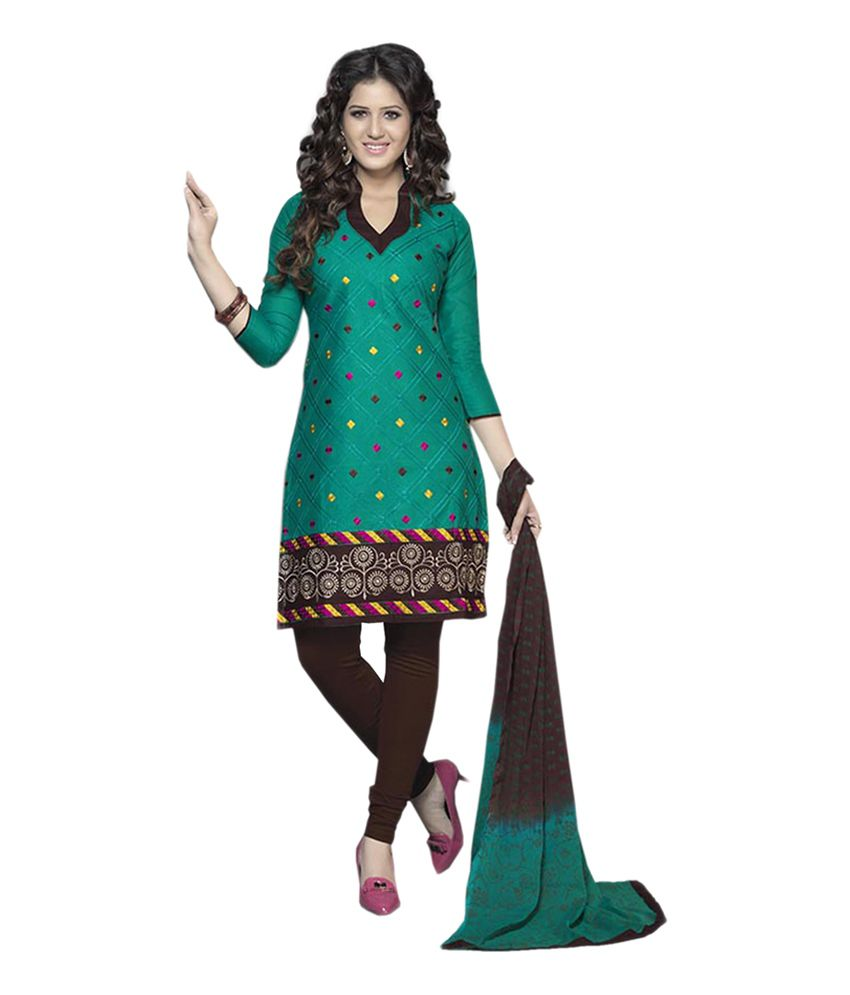 Sri Fashion Multicoloured Cotton Unstitched Dress Material