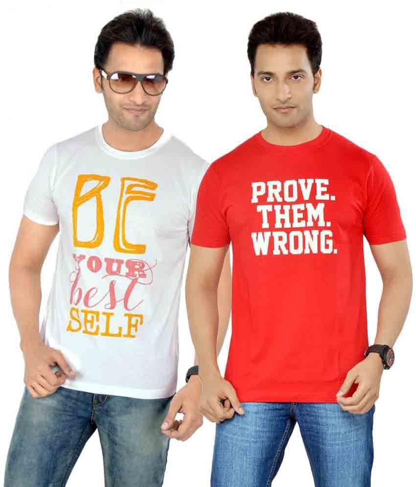 Tsg Escape Men's Printed T-shirt- Pack Of 2