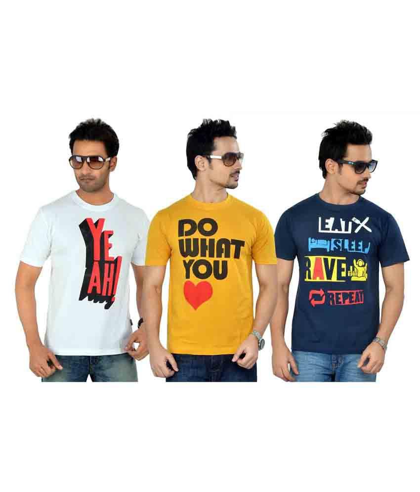 Tsg Escape Men's Printed T-shirt- Pack Of 3