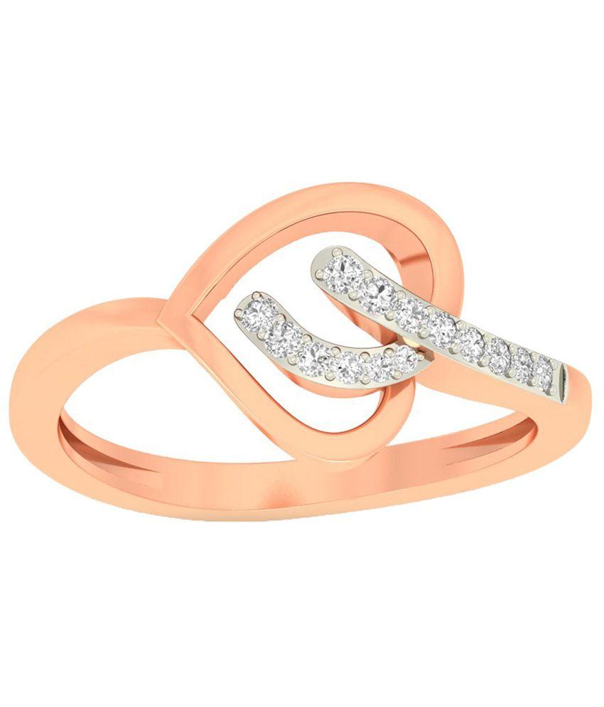 WearYourShine PC Jeweller 18KT Gold The Breiah Heart Diamond Ring