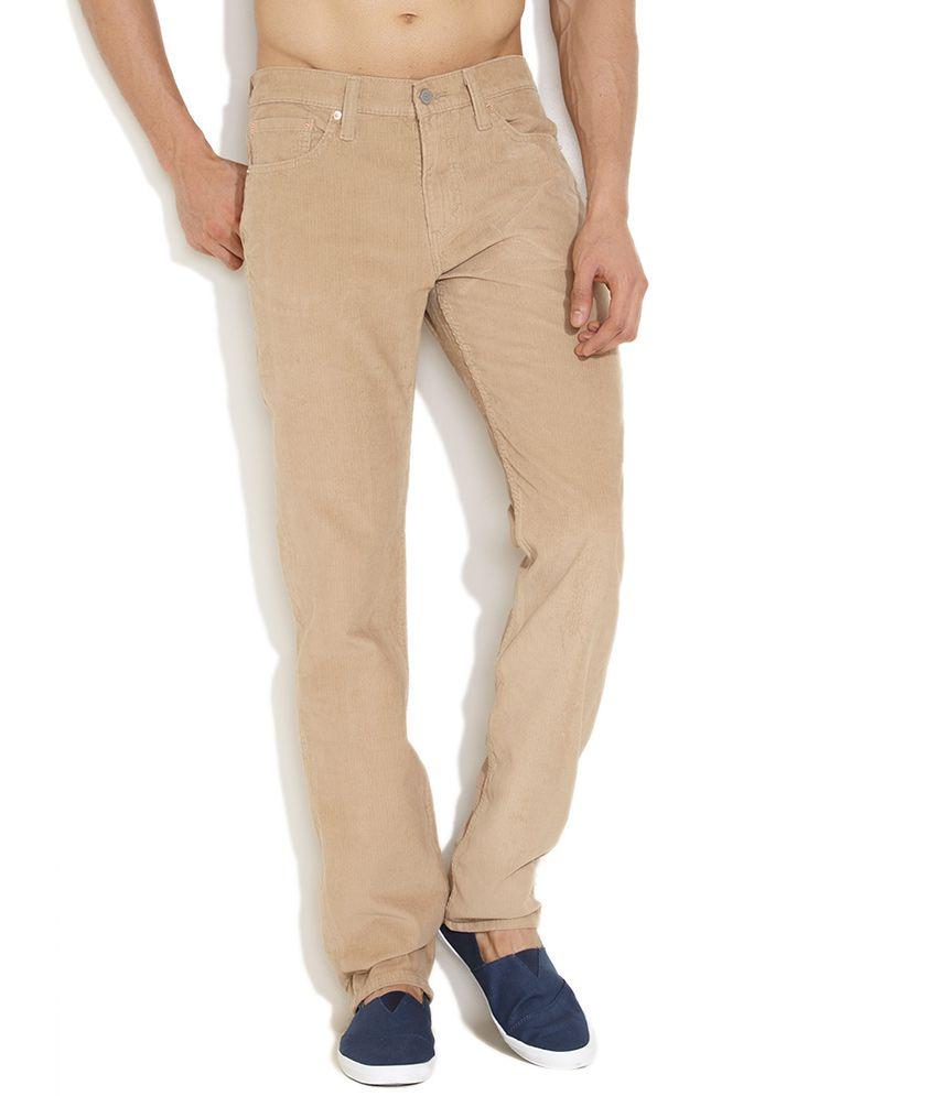 Levi's Beige Casual Slim Fit Corduroy Pants