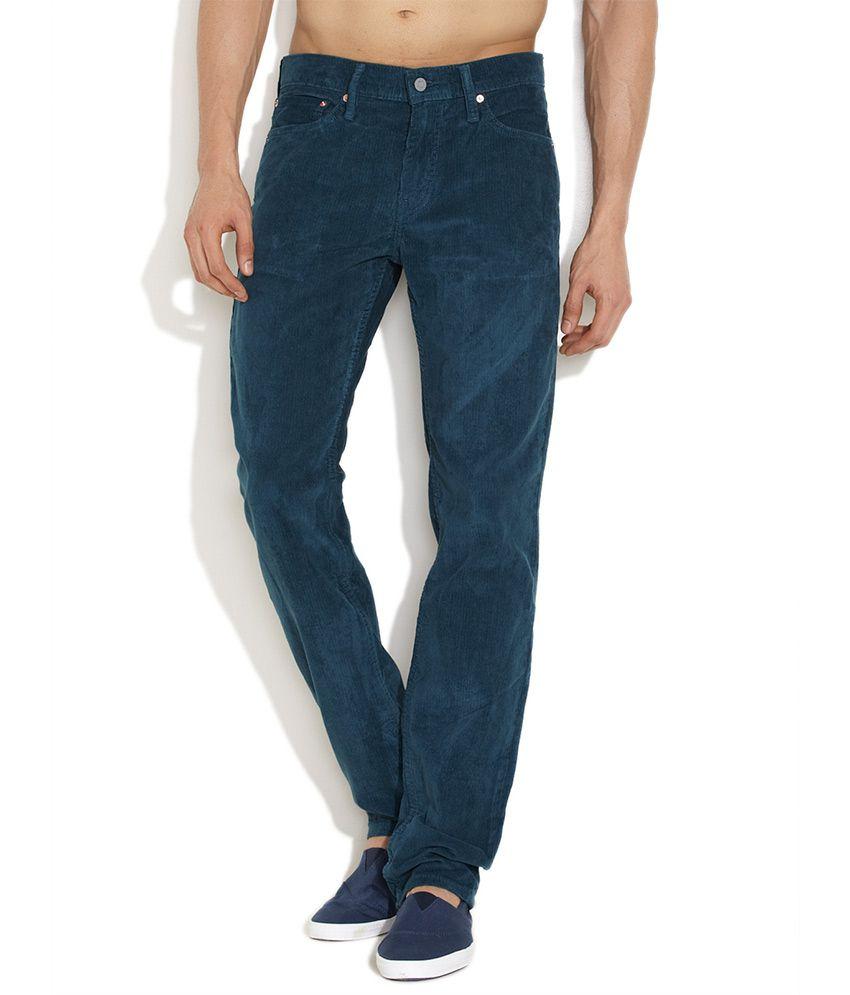 Levi's Medium Blue Suave Slim Fit Corduroy Pants