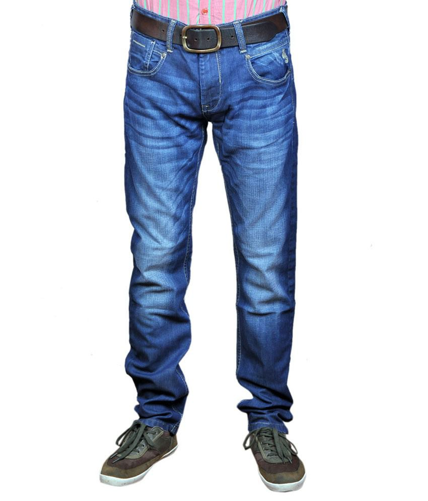 Pepe jeans blue low rise slim fit jeans