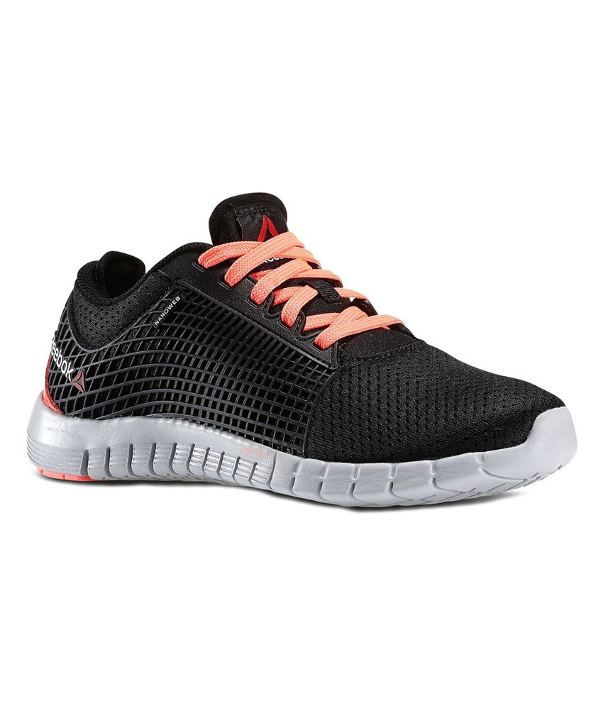 9727bcfde Reebok Black Mesh textile Sports Shoes For Women Price in India- Buy Reebok  Black Mesh textile Sports Shoes For Women Online at Snapdeal