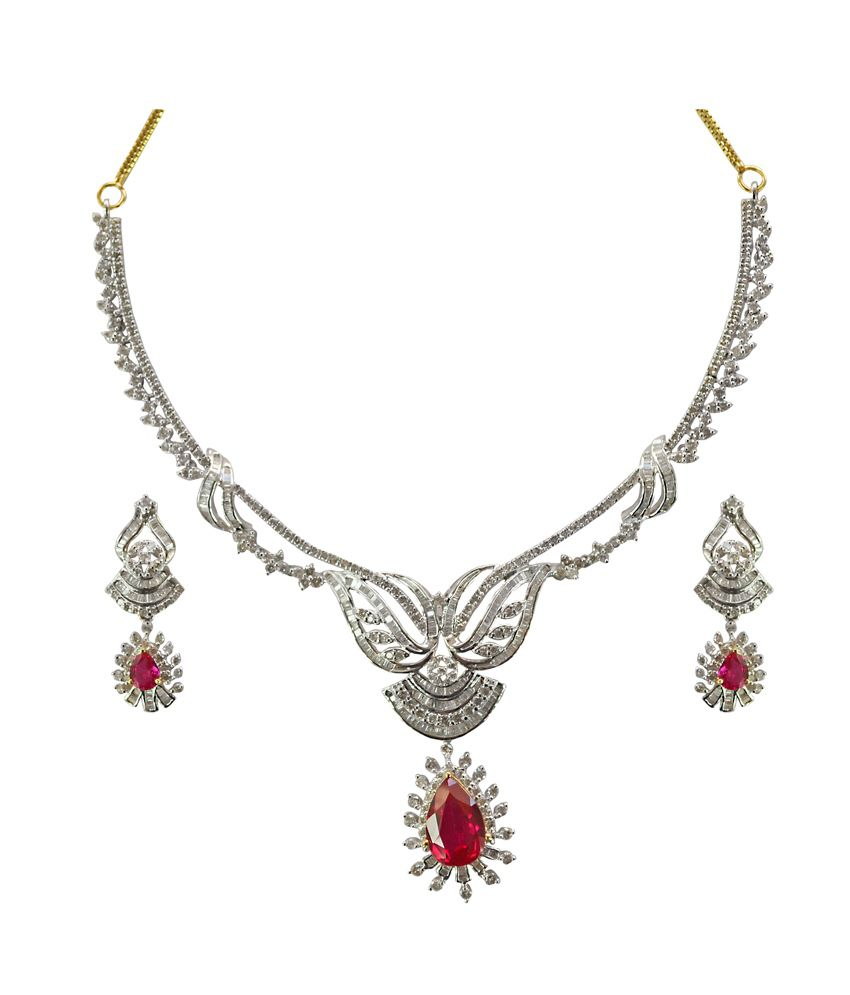 Kataria Jewellers Colour Spark Diamond Set With Hallmarked Gold And Real Certified Diamonds