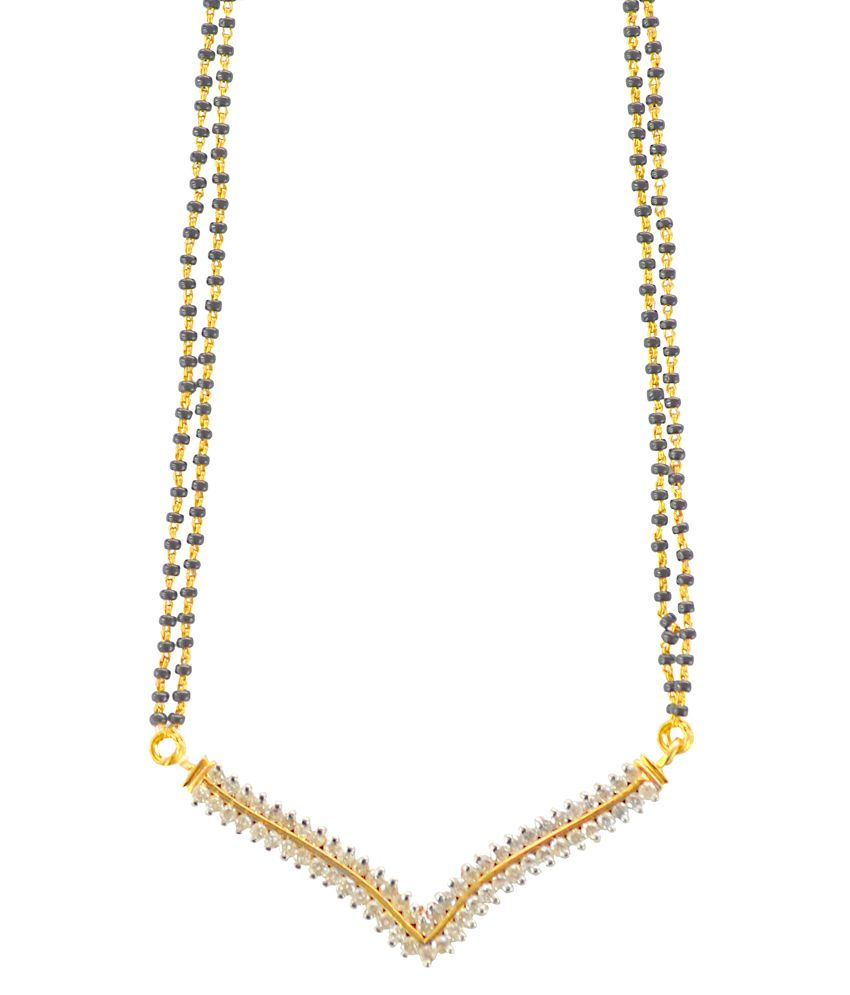Kataria Jewellers Contemporary Diamond Set And 22kt Hallmarked Gold Chain With Real Certified Diamonds