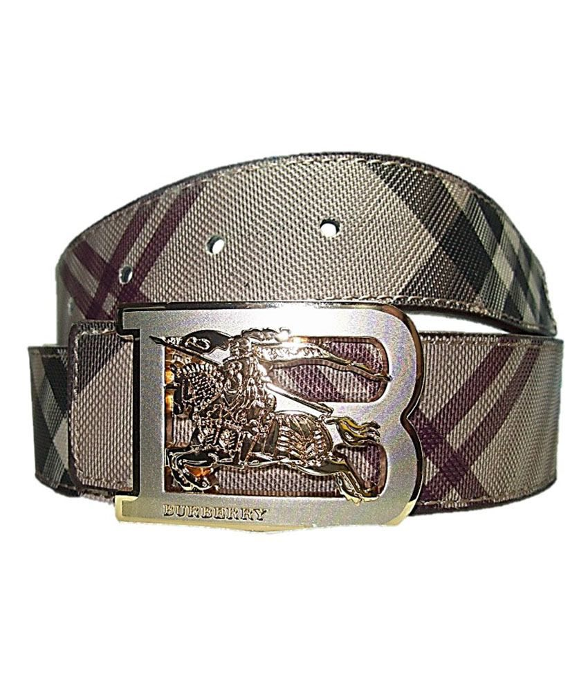 09a16cc4b46 Burberry Designer Belt Golden Buckle  Buy Online at Low Price in India -  Snapdeal