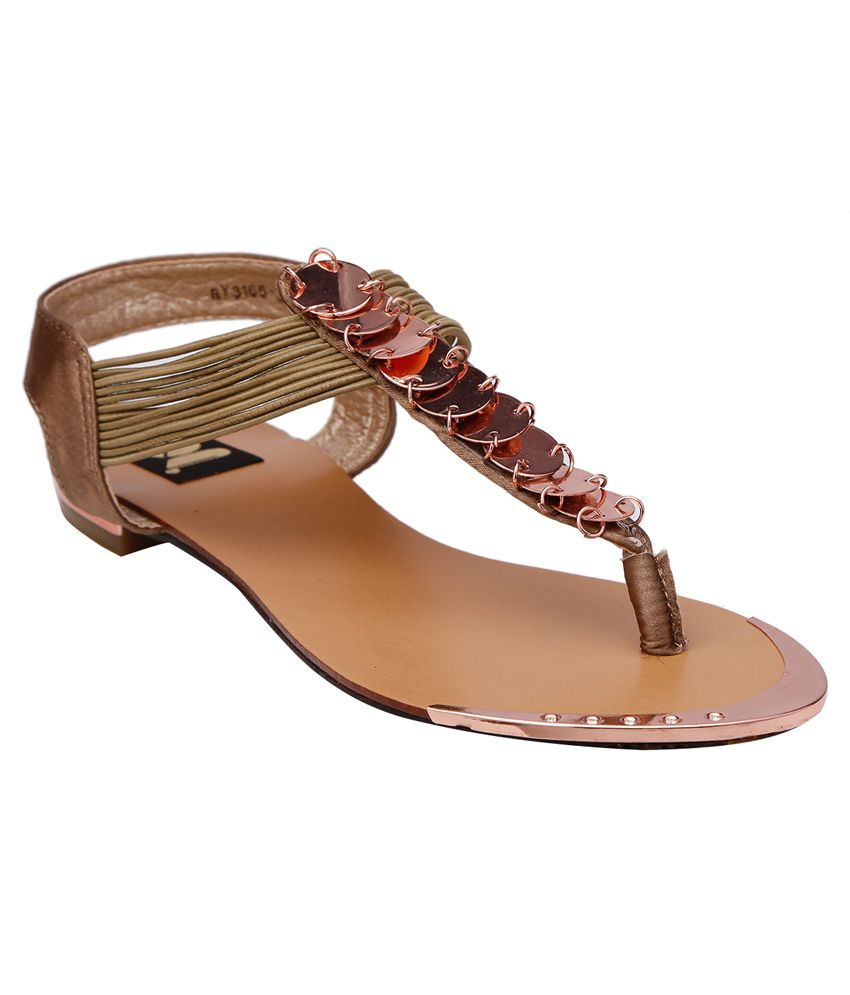 Gossip Khaki Daily Wear Sandal For Women