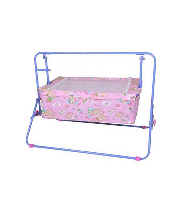 Mothertouch Pink Crib Cradle For Girls