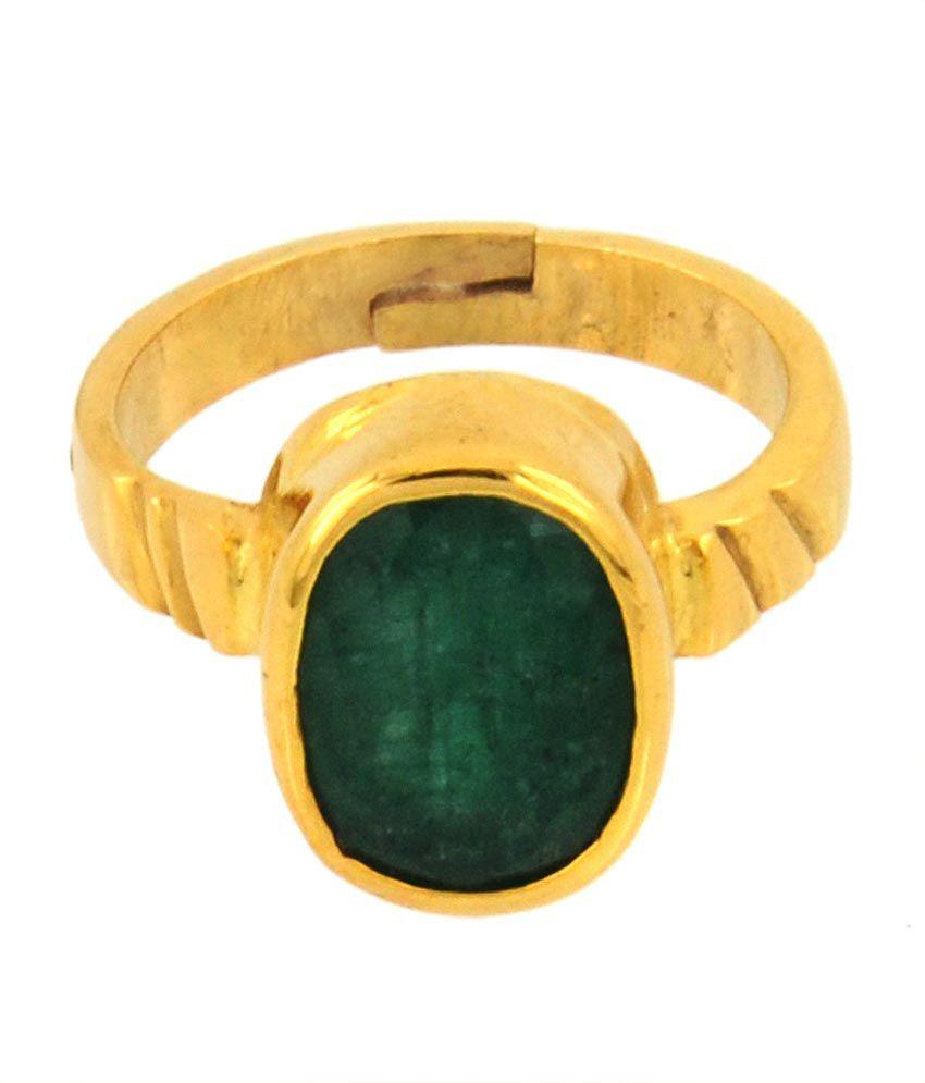 Bello 5.25 Ratti Lab Certified Emerald Gemstone Astrological Ring In Panchdhatu
