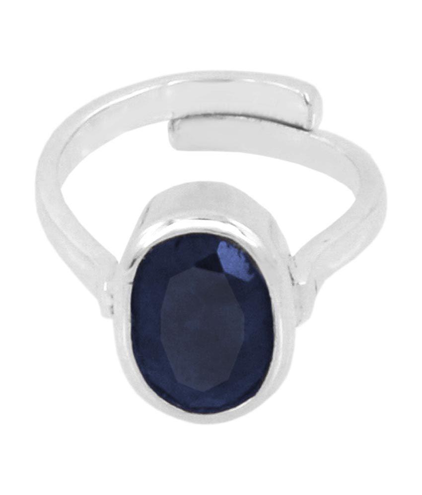 Bello 7.25 Ratti Certified Neelam Gemstone Men's Ring In 925 Silver