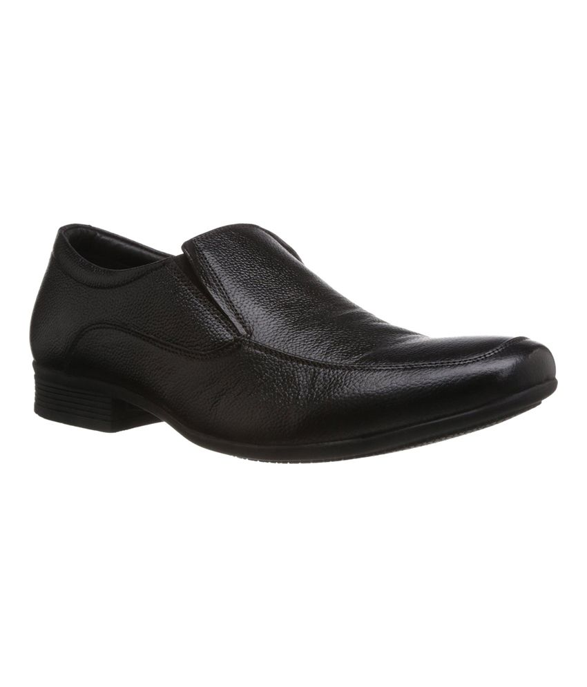 d5b404085f863b Quick View. Hush Puppies Black Slip On Genuine Leather Formal Shoes